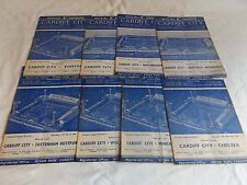 CARDIFF CITY 1960/1961 HOME PROGRAMMES