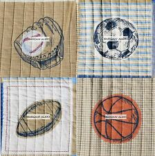 SPORTS TWIN QUILT SET 3-6 pc BASKETBALL SOCCER FOOTBALL BOYS SPORTS COVERLET