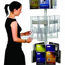 Carousel Literature Display Stand - 3 Sided Brochure Display Holder Carousel