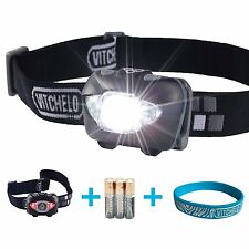 Vitchelo V800 Headlamp Flashlight with Red LED, With Batteries, Adjustable Beam
