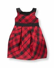 Janie and Jack Pretty in Plaid Dress Holiday Red Special Ocasions 4 6 Kid Girls