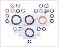 Wholesale  Natural Gemstone Round Beads Stretchy Bracelets Assorted Stones 6MM