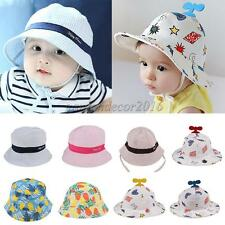 Unisex Baby Hats Kid Toddler Boy Girl Infant Sun Protection Bucket Cap Hat