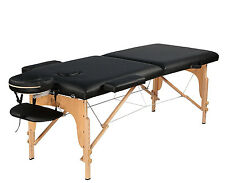 "3"" Portable 3 Fold Massage Table Reiki Facial Bed Table with accessories"