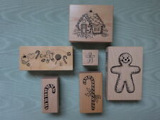 PSX Rubber Stamps~Your Choice~RARE Gingerbread House, GBread Man and Candy Canes