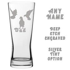 PIGEON Fancier Engraved Pint Beer Glass FREE DELIVERY Fathers Day