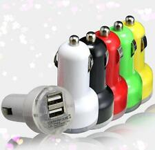 Car Charger Adaptor Bullet Dual USB 2 Port for iPod iPhone 4 5 C S Samsung  FACA