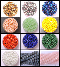 Wholesale 100Pcs Top Quality Czech Crystal Faceted Rondelle Spacer Beads 4MM 6MM