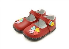 "Freycoo ""Gracie"" Red Leather Soft Sole Shoes Baby Girl Toddler Pre walker"