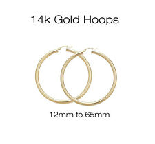 14K Yellow and White Gold 2mm Hoop Earrings