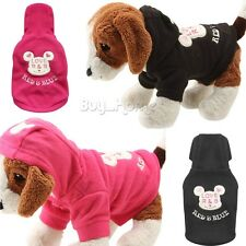 Dog Pet Warm Winter Coat Jacket Fleece Puppy Hoodie Clothes Pet Supplies XS-L