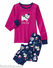 NWT Gymboree Girls Gymmies Beary COZY Pajamas PJs Christmas Holiday 2T