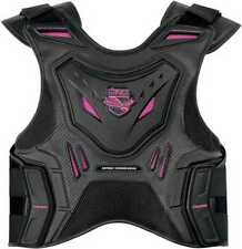 Icon Field Armor Stryker Women's Vest Pink Sportbike Stunt Chest Back Protection