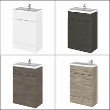 600mm Hudson Reed Bathroom Combination Compact BTW Vanity Unit With Sink Basin