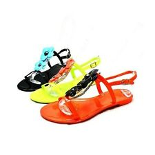 Ladies jelly sandals with flower front