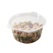 """4"""" New Clear Hinged Plastic Take Out To-Go Food Storage Container 50/100 Pack"""