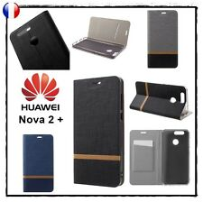 Etui porte-carte coque housse card holder Wallet Cover case Huawei Nova 2 plus +