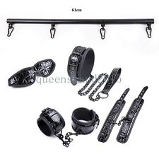 Bondage-Spreader-Bar-Restraint-Fetish-Set-Toys-Hand-cuff-Ankle-Cuffs-Collar-Leg