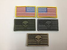USA AMERICAN FLAG PUNISHER TACTICAL US MILITARY DESERT VELCRO PATCH 5 COLORS
