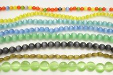 """Cats Eye Beads - Variety of Colors & Styles Available! 16"""" Strand"""
