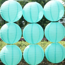 Round Paper Lanterns Paper Ball Light Blue Party Chinese Lantern