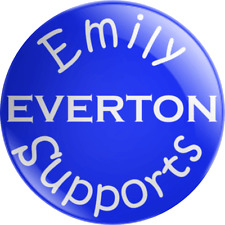Personalised Name Supporter Everton Pin Badge Football Kids Childrens Gift FC
