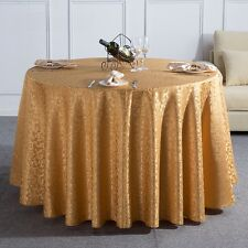 1M Round Tablecloth Table Cover Cloth Flower Pattern Party Dark Coffee