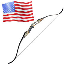 Archery Recurve Bow 30-50 lbs Takedown Bow Hunting Targeting 54'' Right Hand