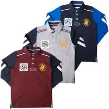 Kids Long Sleeve Polo Shirts Boys Rugby Active Sports Childrens Top Santa Monica