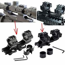 """Tactical 30mm/1"""" Dual Cantilever Rifle Scope Mount Picatiiny Rail Weaver PEPR OY"""