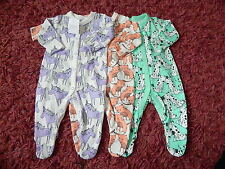 BNWT BABY GIRLS NEXT SLEEPSUITS SIZES NEWBORN / UP TO 1 MONTH / 0-3 & 3-6 MONTHS