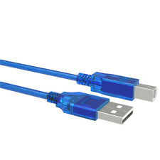 USB 2.0 Type A Male to B Male Scanner Printer Cable for HP Canon Laser Printer
