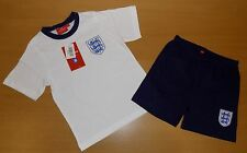 BRAND NEW BOYS PERSONALISED ENGLANDL F.C SHORT PYJAMAS 3-4 up to 11-12 YEARS