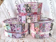 Patchwork Quilting Kit Purple Jelly Roll Quilt Kit Complete Sewing Craft Kit