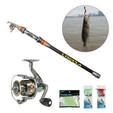 Fishing Rod Reel Set Telescopic Combo Reel And Pole Saltwater Kit Tackle T6Y4