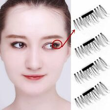 2/4pair 3DMagnetic False Eyelashes Natural Eye Lashes Extension HandmadeReusable