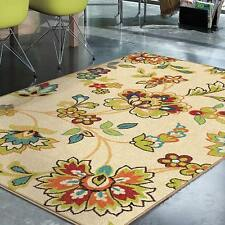 Transitional Contemporary Floral Indoor Outdoor Area Rug **FREE SHIPPING**
