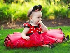 Polka Dots Girls Bow Tutu Dress Toddler Baby Princess Party Wedding Tulle Gown