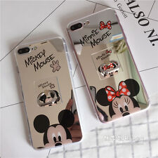Cute Disneylan Mirror Face Minnie Mickey Mouse Soft Phone Case Cover For iPhone