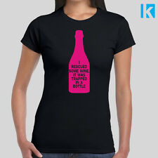 I Rescued Some Wine It Was Trapped In A Bottle Hen Do T-shirt Tee Women Girls