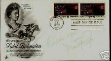 Martha Raye signed ` SYBIL LUDINGTON`First day  Cover