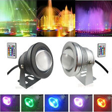 10W IP68 Waterproof RGB LED 12V Underwater Spot Light Pool Light Aquarium Lamp