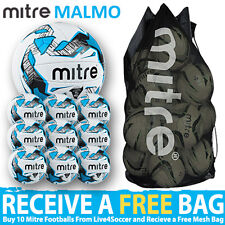 10 x Mitre Malmo Training Balls Plus FREE Mesh Bag