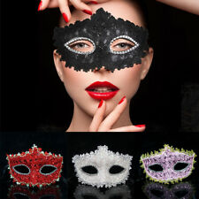 Venetian Lace Crystal Rhinestone Cosplay Mask Halloween Masquerade Costume Party
