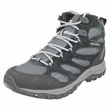 MENS MERRELL TUCSON MID WATERPROOF LACE UP LEATHER WALKING HIKING ANKLE BOOTS