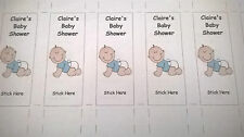 Baby Shower Personalised Love Heart Wrappers Boy or Girl