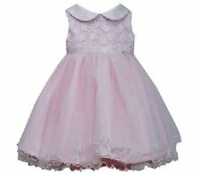 New Baby Girls Bonnie Jean Social Gown Dress & Bloomers SZ 12 18 24 Months