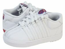 New K-Swiss Classic 20100 White Leather Infant Toddler Shoes