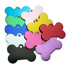 DIY Engraved Alloy Colorful Dog Cat Pet Tag Double Sided ID Charm Blank Tags