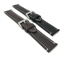 20 22 24mm Mens Waterproof, Leather Watch Band Strap, Matte, Fits Citizen & More